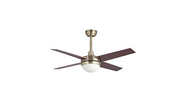 Lampara ventilador TORNADO LED cuero satinado en oferta.: Amazon.es: Iluminación