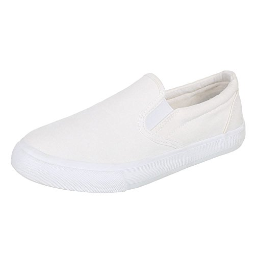Womens Shoes, FC16 B07, halbschuhe Slipper White - Elfenbein