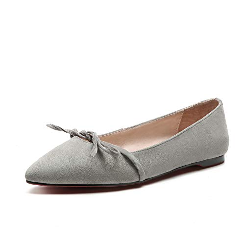 Pumps Shoes Urethane Structured Bows Solid Womens APL10961 Casual BalaMasa Gray y0qXYxy