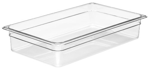 Cambro Camwear 14CW135 Food Pan, 1/1 by 4-Inch, Clear Camwear Clear Food Storage Pan