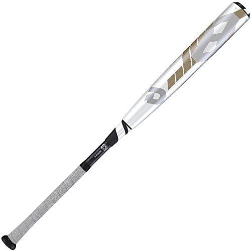 DeMarini 2016 CF8 BBCOR Baseball Bat, White/Silver/Gold