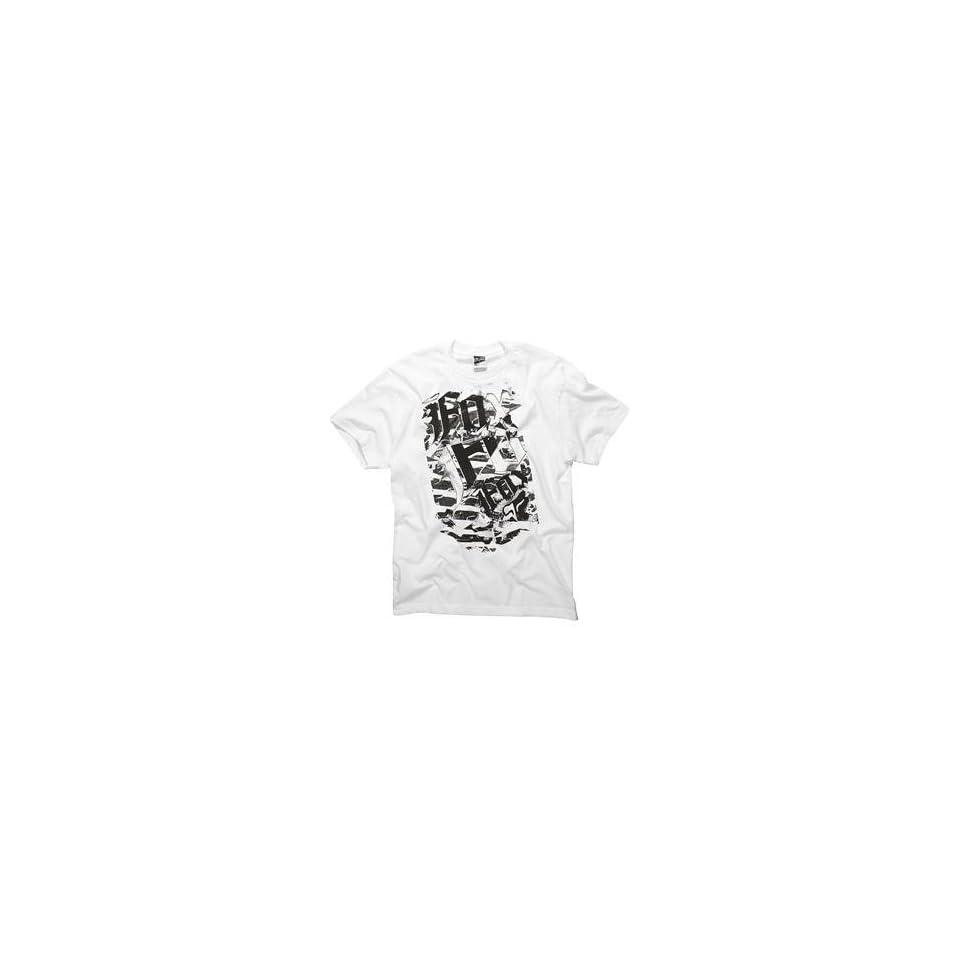 Fox Racing Berlin T Shirt   Large/White