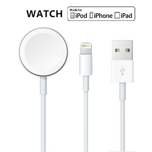 Apple Watch Charger, 2 in 1 iphone Charger With 3.3ft/1.0m Portable Charging Cable Compatible With for Apple Watch Series 4/3/2/1, iPhoneXR/XS/XS Max/X/8/8Plus/7/7Plus/6/6Plus/iPad4/iPad Air/iPad mini