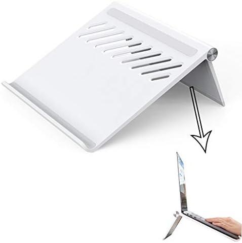 ノートパソコンのサポート、デスクトップの放熱サポートシェルフ、ベースの持ち上げと折りたたみ式ポータブル中空の放熱安定した滑り止め折りたたみ式ポータブル