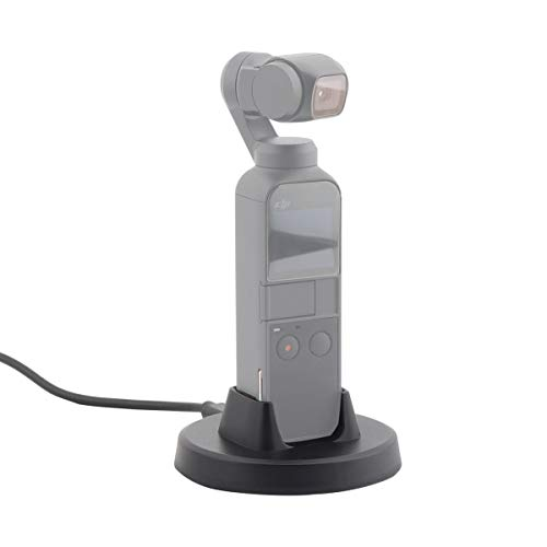 (AFVO Charging Base Tabletop Charger Holder for DJI Osmo Pocket, Charging Cable Included)