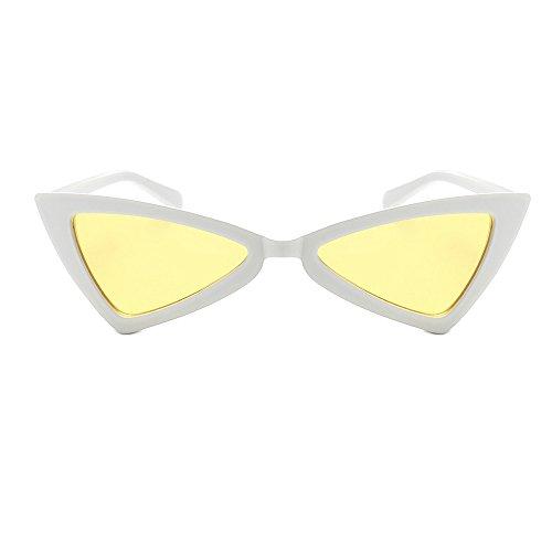 AMOFINY Fashion Glasses Women Vintage Cateye Frame Shades Acetate Frame UV Sunglasses
