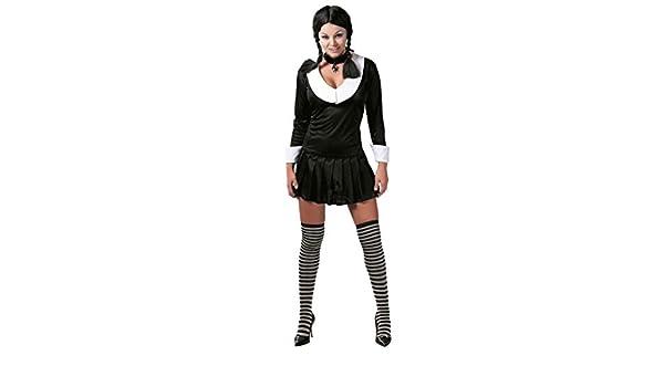 Mujer Sexy Adulto Miércoles Addams TERROR hija TV Disfraz de ...