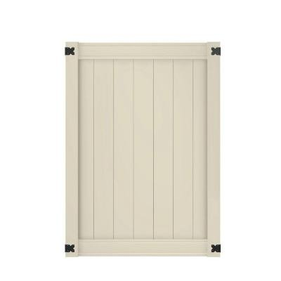 Pro Series 4 ft. x 4 ft. Woodbridge Tan Privacy Walk Through Vinyl Unassembled Fence Gate