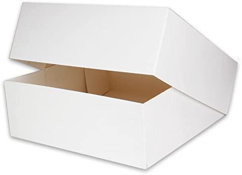 50 cajas caja para tartas tarta 32 x 32 x 11 cm Color Blanco, del ...