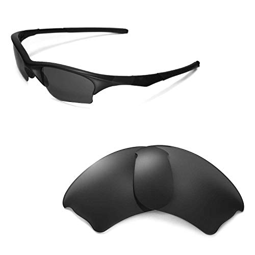 Walleva Replacement Lenses for Oakley Half Jacket XLJ Sunglasses -Multiple Options Available (Black - ()