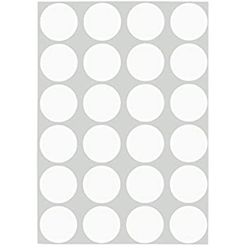 ChromaLabel 3/4 Inch Round Removable Color-Code Dot Stickers, 1008 Pack, 24 Labels per Sheet, White