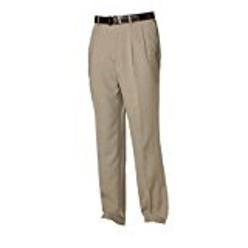 Savane Microfiber Pants - Savane Microfiber Expander Waist Dress Pants 38X32 KHAKI