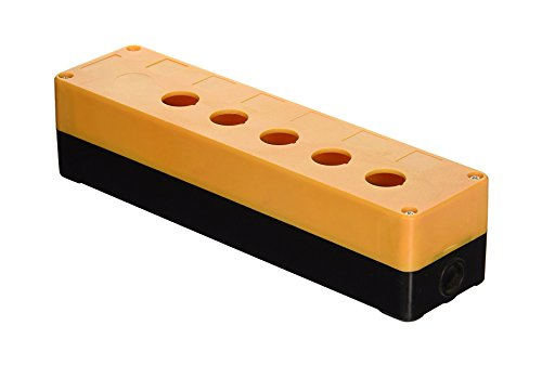 ZXHAO Plastic Hole 5 Push Button Switch Control Station Box 22mm Button Box Orange and Black