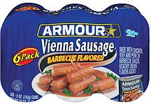ARMOUR VIENNA SAUSAGE BARBECUE FLAVORED 4.75 oz / 10 cans get 2 FREE by Armour