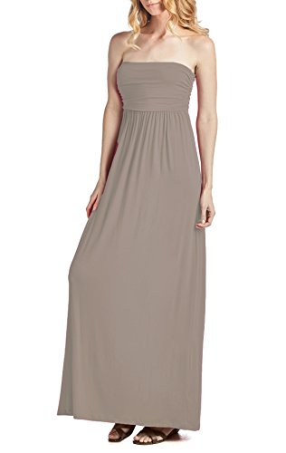 Mocha Dress Tube Maxi Comfortable Women's Beachcoco PqpXYY