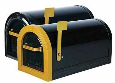 Gibraltar Wyngate Large Capacity Galvanized Steel Black, Locking Post-Mount Mailbox, WM16KB01