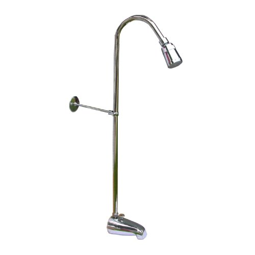 LASCO 08-2141 Add a Shower Diverter Spout with Riser and Shower Head, 3/8-Inch x 50-Inch Riser, -