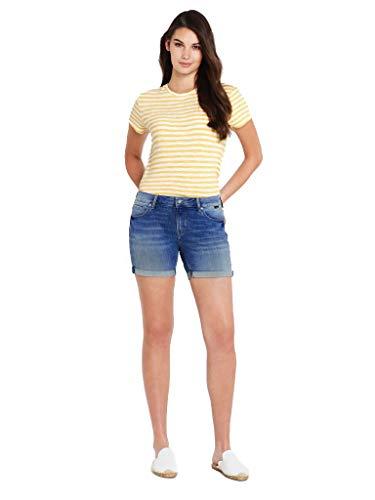 Mavi Women's Pixie Mid-Rise Boyfriend Shorts (Mid Indigo Vintage, 27 5)