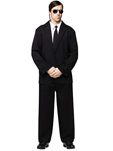 Secret Service Halloween Costume Ideas (Black Suit Adult Costume -)