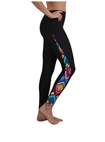 Women Long Swim Surfing Sport Pants Leggings Tights Floral M