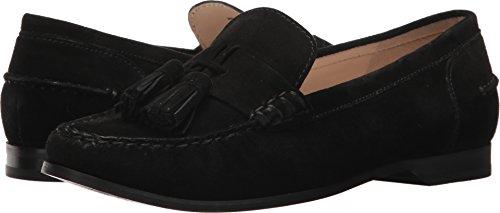 Cole Haan Women's Emmons Tassel Loafer II Black Suede 8.5 B (Womens Black Suede Loafers Shoes)