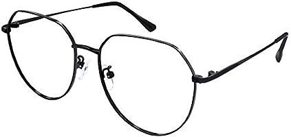 Ramlinku ブルーライトカットメガネ 度なし 軽量 伊達メガネ ゲーム PC メガネ パソコン用メガネ ボストン型 視力保護 睡眠改善 放射線と紫外線の90%以上を効果的に遮断します ラウンド ステンレス お洒落 男女兼用