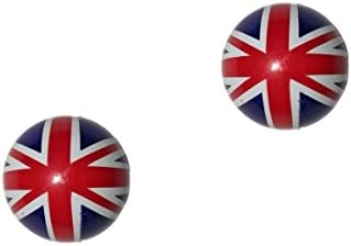 2er Set Ventilkappen rund UK Flagge F/ür jedes Motorrad