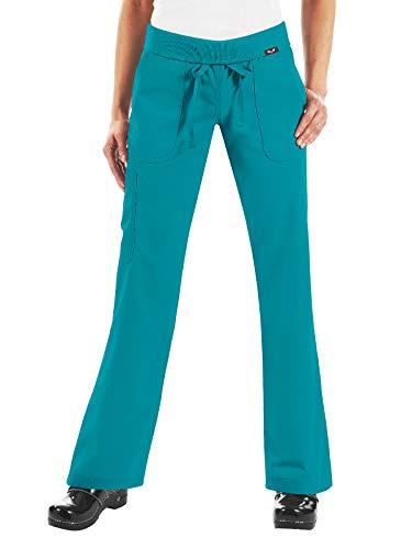 - KOI Plus Size Women's Petite Morgan Ultra Comfy Yoga-Style Cargo Scrub Pants, Turquoise XXX-Large