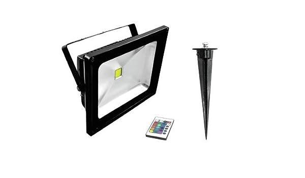 Proyector LED RGB con pica de tierra 230V / 30W, IP65, 120 ...