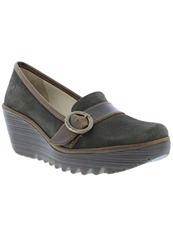 Fly London Womens Yond 771 Suede Shoes Sludge/Olive