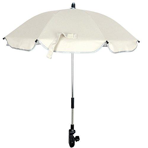 RoseSummer Pushchair Baby Stroller Umbrella and Holder UV Rays Rain Sun Canopy (White) by RoseSummer