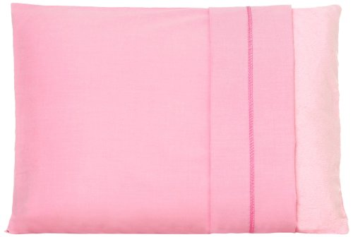 """My First  Set of Two Toddler Pillow Cases Fits Pillows Sized 12"""" x 16"""", Pink"""