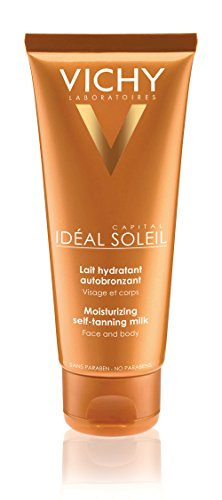Vichy Idéal Capital Soleil Self Tanner Moisturizing Face and Body Lotion with Vitamin E, 3.38 Fl. Oz.