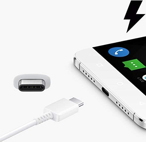 White // 110-240v Charging 1.2A Wall Kit Upgrade Works with Samsung S8 Edge as a Replacement Compact Wall Charger with Detachable High Power USB Type-C 2.0 Data Sync Cable!