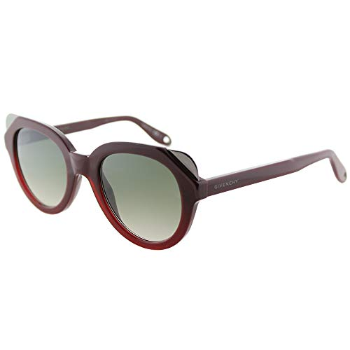 (Sunglasses Givenchy Gv 7053 /S 0L39 Shaded Burgundy / EZ green silver mirror lens)