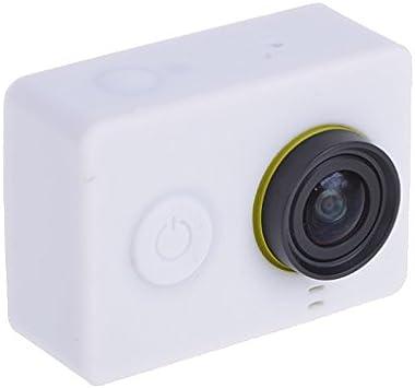 CHENYANTUB Camera Accessories Silicone Gel Protective Case for Xiaomi Yi Sport Camera Black Color : White