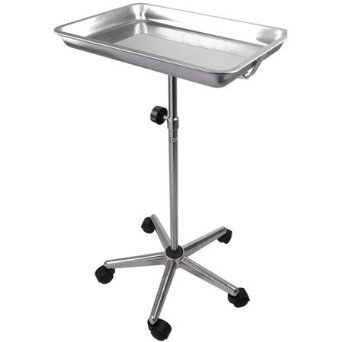 NEW LEAF Mayo Instrument Stand with Removable Tray 5 Legs by New Leaf