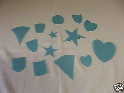 Stars Hearts Plastic Templates Assorted Shapes Crafters Delight Cardmaking