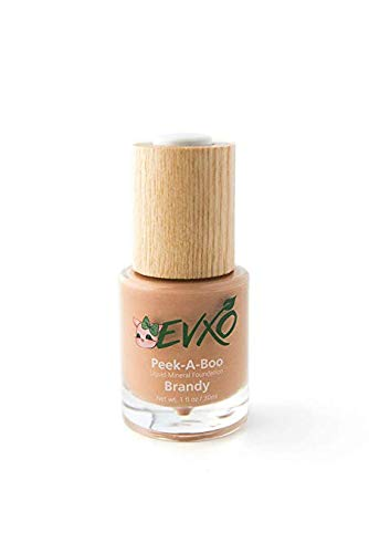 EVXO Organic Liquid Mineral Foundation - Vegan, All Natural, Gluten Free, Aloe Based, Buildable Coverage, Cruelty Free Foundation Makeup - 1 Fl Oz (Brandy/Tan-Medium with Warm Undertones)