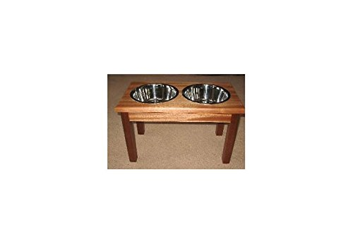 Traditional Style Solid Mahogany Wood Pet Diner (Large)