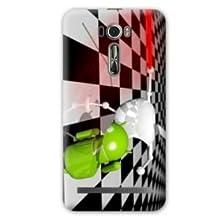 Case Asus Zenfone 2 Laser ZE500KL / ZE 500 KL apple vs android - damier B