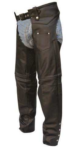 Unisex Adult AL2400 Chaps X-Small Black by Allstate Leather