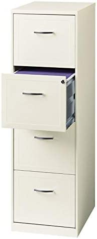 Scranton Co 18 Deep 4 Drawer Vertical File Cabinet in Pearl White