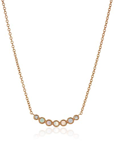 Fossil Women's Iridescent Rose Gold-Tone Stainless Steel Necklace ()