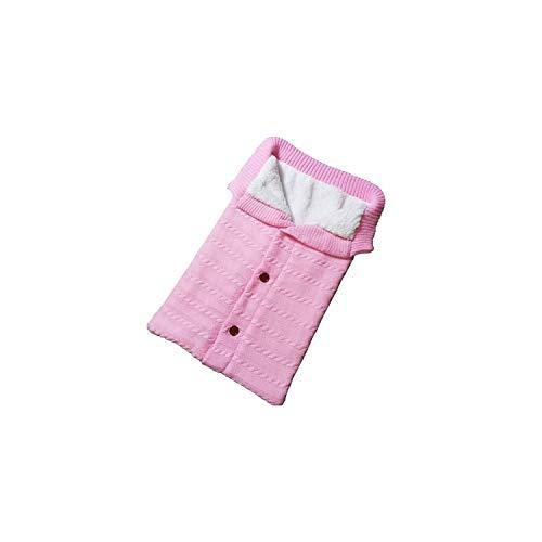 (Sleeping Bag Envelope Winter Kids Sleepsack Footmuff for Stroller Knitted Sleep Sack Newborn,Light Pink)