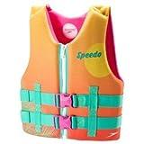 Speedo Youth Neoprene Child Lifevest Flotation Device 50-90 lbs. - Girls - Sunset Orange/Pink