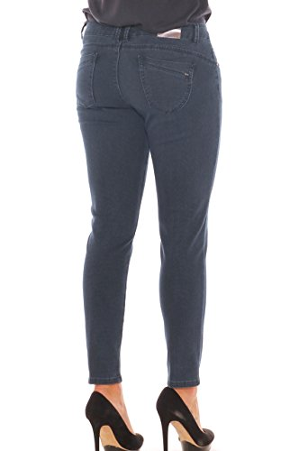 Blu Morbida Denim Chiara Jeans Super Scuro Skinny Dalba Taglia Armaturato Donna Stretch In PXPvqT