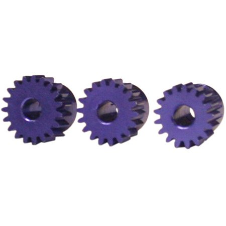 Novak 5212 Aluminum Mod 0.5 Pinion Gears, 3-Pack (17T, 18T and 19T)