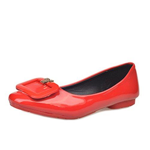 Las señoras de la moda coreana y zapatos puntiagudos/Planos/simple zapatos planos de Inglaterra A
