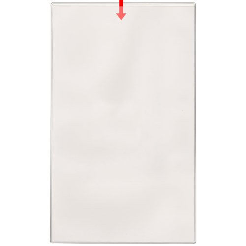 StoreSMART - Peel & Stick Legal Size Pocket - Open short side - 8 1/2 x 14-25 Pack - - Pockets Stick Display